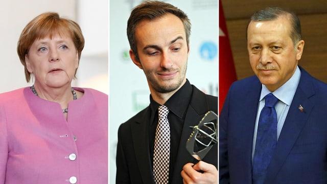 Merkel, Böhmermann und Erdogan