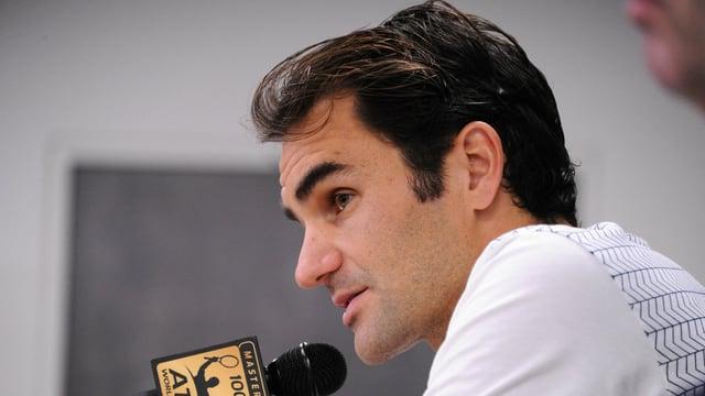 Il giugader da tennis svizzer Roger Federer.