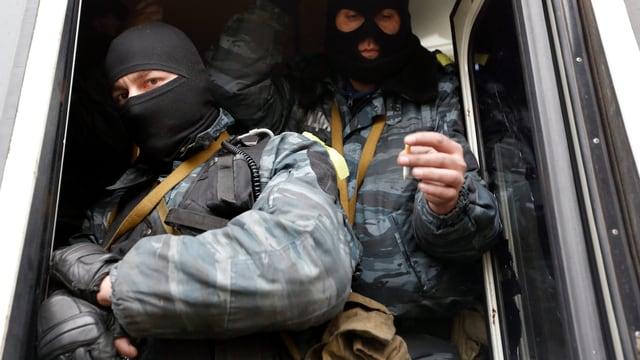 Polizisten der Berkut-Einheit am 22. Februar in Kiew.
