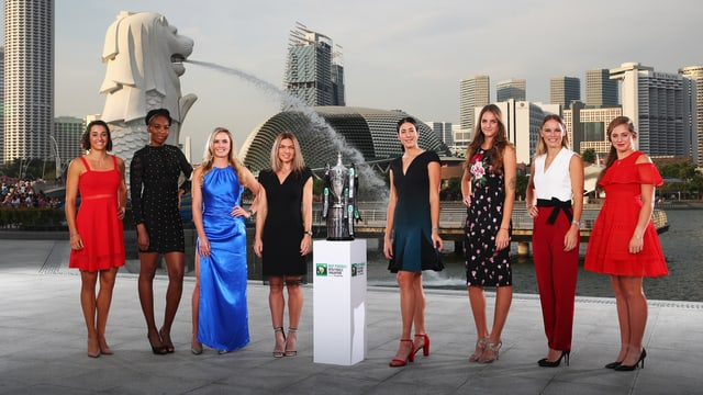 Garcia, Williams, Switolina, Halep, Muguruza, Pliskova, Wozniacki und Ostapenko.