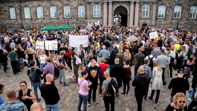 Protestierende.