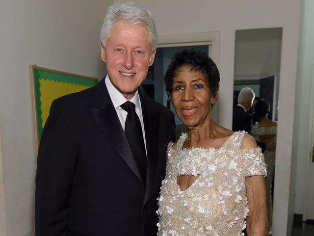 Bill Clinton und Aretha Franklin am 7. November 2017