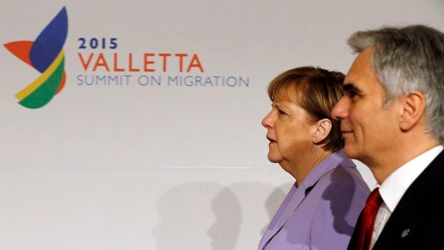 Angela Merkel e Werner Faymann.