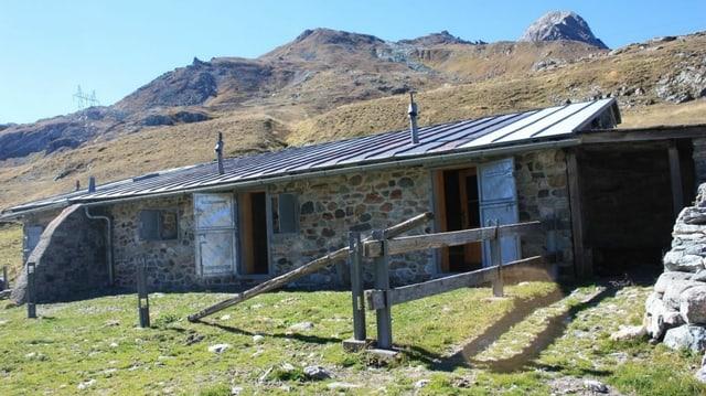 Novs lieus da pernottar sin la ruta dal Parc Ela Trek: La chamonna sin il Pass dal Sett.
