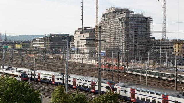 Die Europaallee in Zürich im Bau.