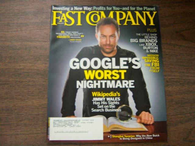 """Cover des Magazins FAST COMPANY mit der Schlagzeile """"Google's schlimmster Alptraum"""""""