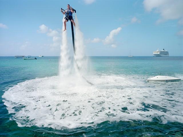 Wassersport in der Luft.