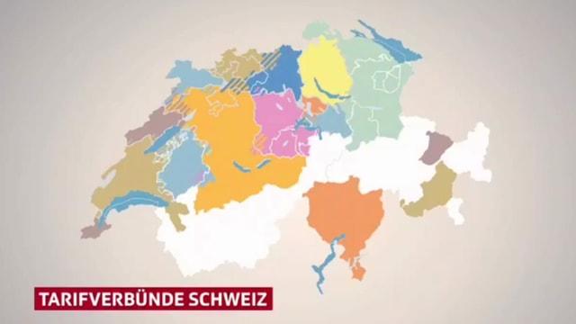 Grafik zu den Tarifverbünden in der Schweiz.