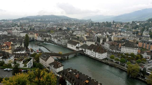 Die Stadt Luzern aus der Vogelperspektive