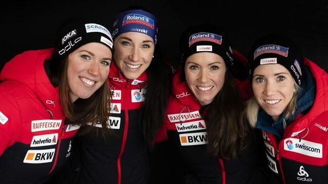 Selina Gasparin, Lena Häcki, Elisa Gasparin, Aita Gasparin