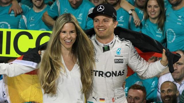 Vivian und Nico Rosberg.