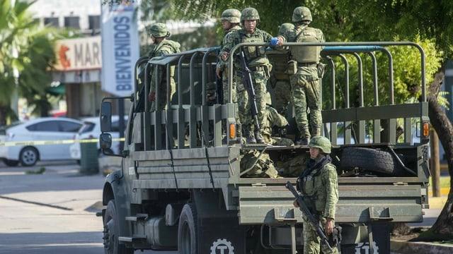 Sicherheitskräfte in Mexiko.