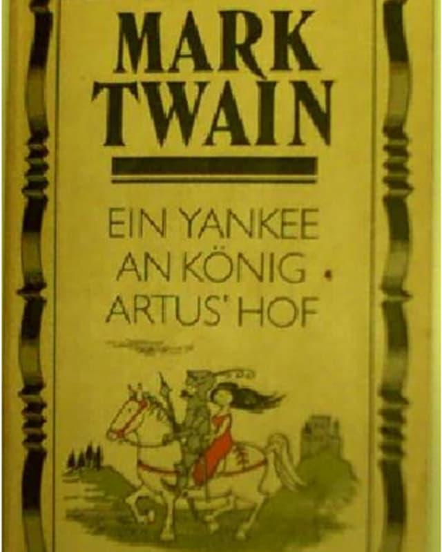 Buchumschlag: EIn Ritter und ein Mädchen auf einem Pferd.