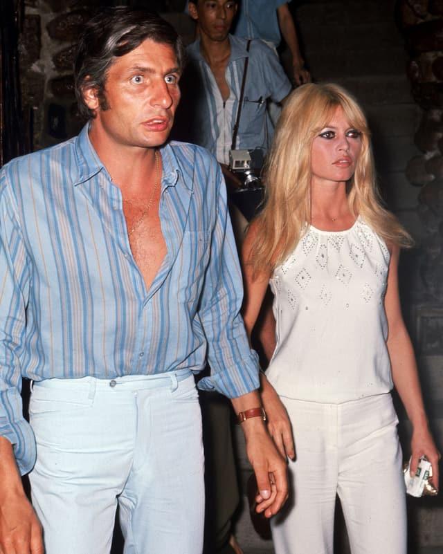 Brigitte Bardot und ihr Mann Gunter Sachs 1966.