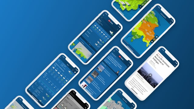 Smartphones mit SRF Meteo App