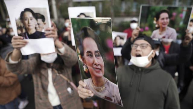Demonstranten in Japan