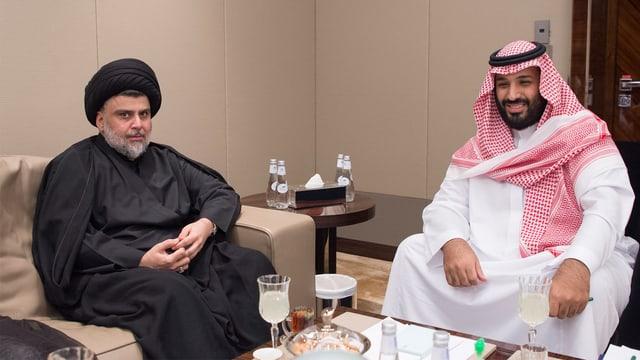 Sadr mit Kronprinz Mohammed