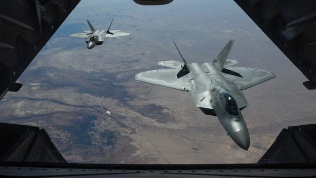 US-Flugzeuge über Syrien.