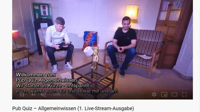 Screenshot des Livestreams Pub-Quiz