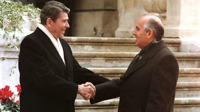 Historisches Treffen in Genf 1985: Reagan und Gorbatschow.