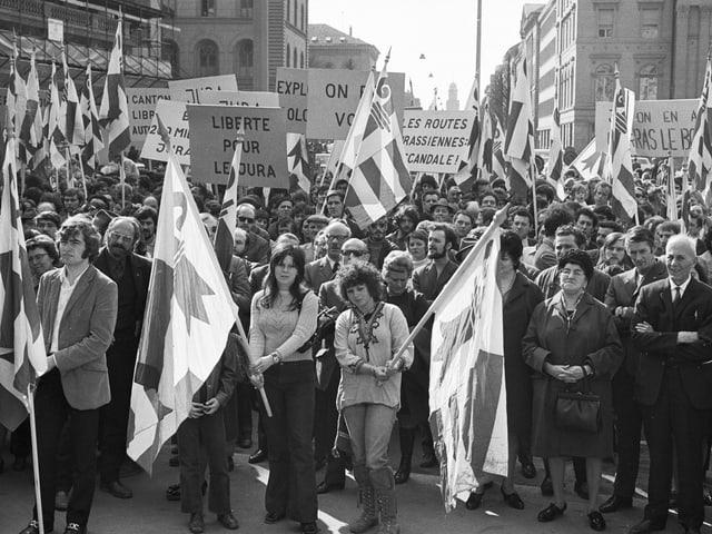 Demonstration für einen Kanton Jura in Bern.