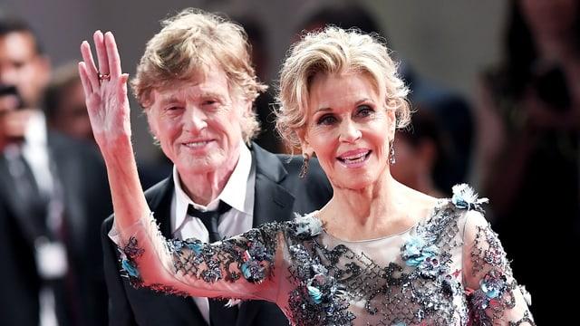 Jane Fonda und Robert Redford am Filmfestival Venedig.