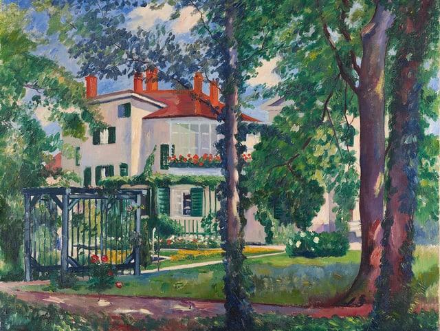 La Flora: Die Villa Flora in Öl, gemalt 1912 von Henri-Charles Manguin