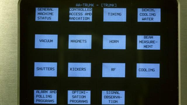Keine beleuchteten Knöpfe, sondern einer der ersten Touchscreens im täglichen Einsatz in einer Forschungseinrichtung.