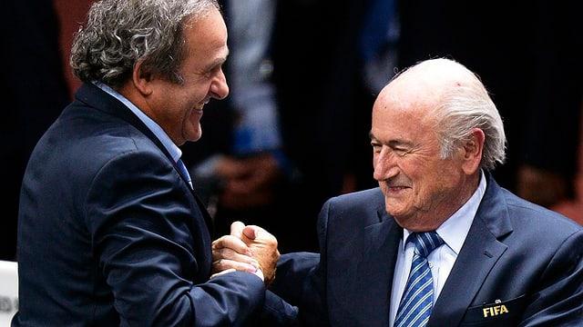Platini und Blatter.