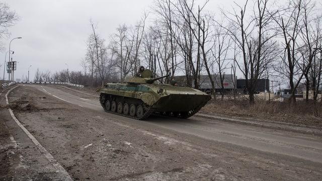In char armà dals separatists en l'Ucraina.