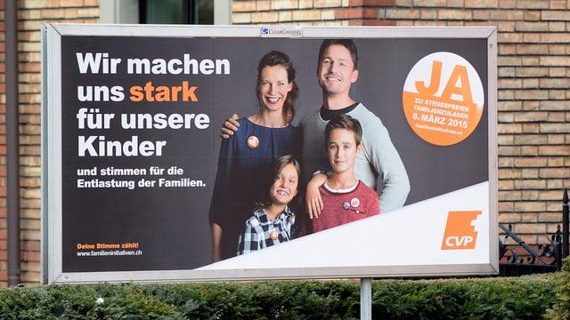 Plakat für die Familieninitiative der CVP