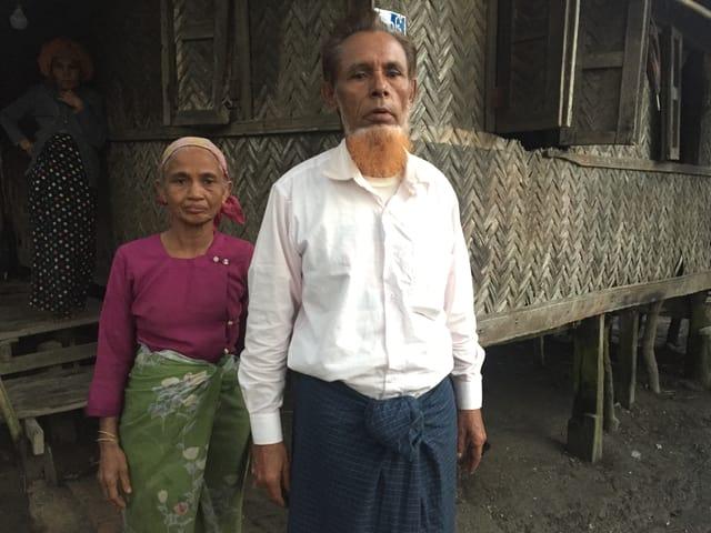 Osman Ali mit seiner Frau.
