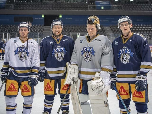 Erik Thorell, Jan Kovar, Leonardo Genoni und Grégory Hofmann (von links nach rechts).