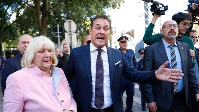 Parteichef Heinz-Christian Strache könnte die FPÖ auf den zweiten Platz führen.