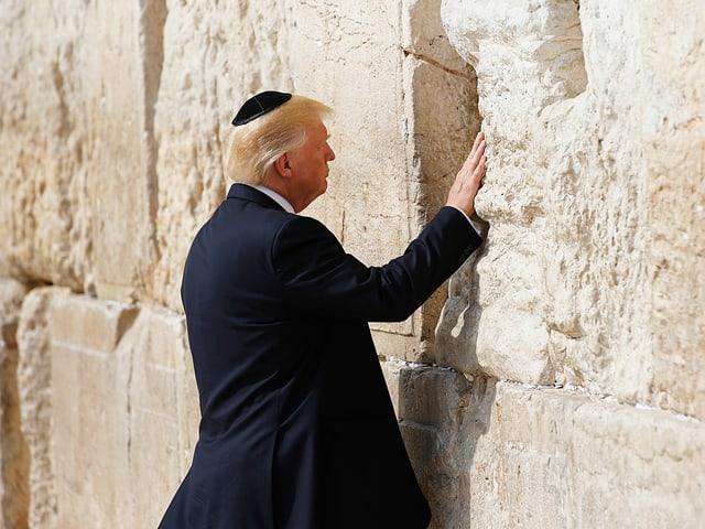 Trump an Klagemauer