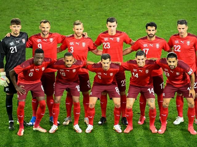 Die Spieler der Schweizer Nationalmannschaft.