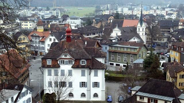 Blick vom Landenberg aus auf Sarnen