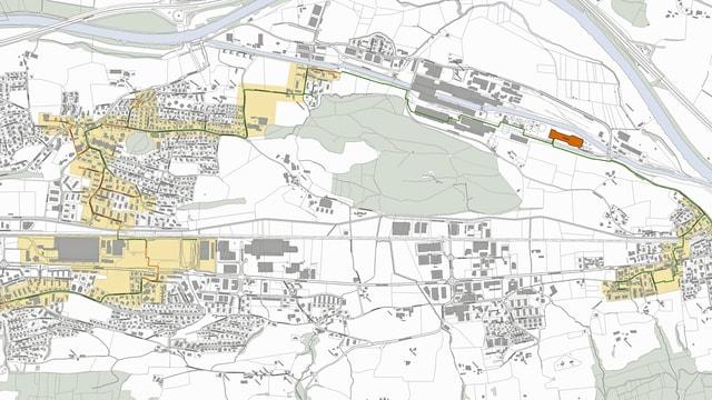 Grafik mit dem Fernwärmenetz im Rontal