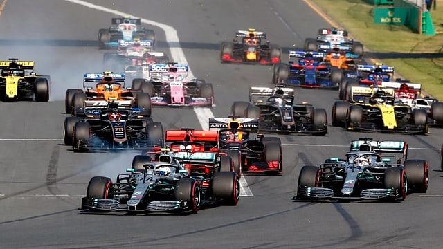 Autos da F1.