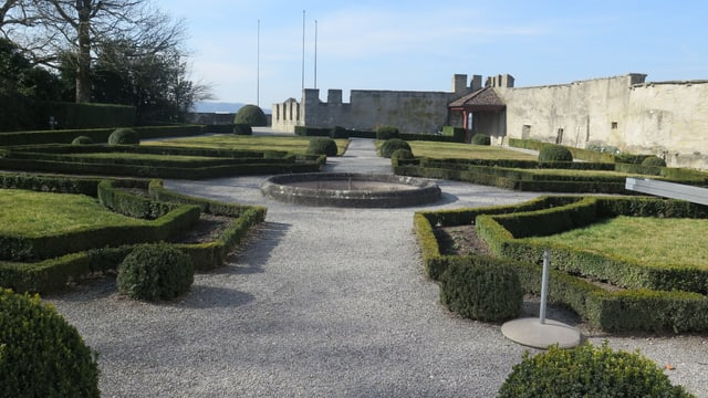 Der Garten des Schloss Lenzburg