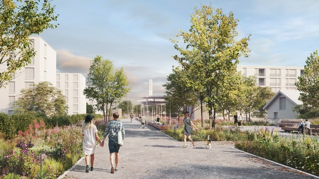 Die Einhausung Schwamendingen soll auf ihrem Dach einen grossen Park erhalten.
