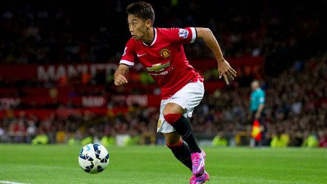 Shinji Kagawa mit Manchester United in der Champions League.