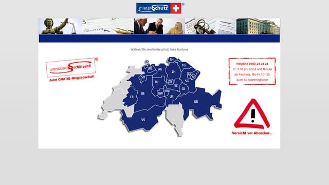 Startseite Homepage Mieterschutz