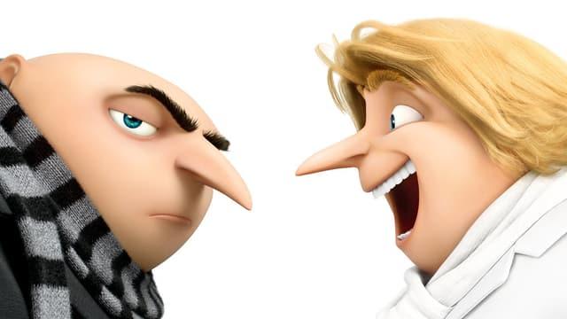 Die beiden Hauptfiguren Gru und Dru im Profil.