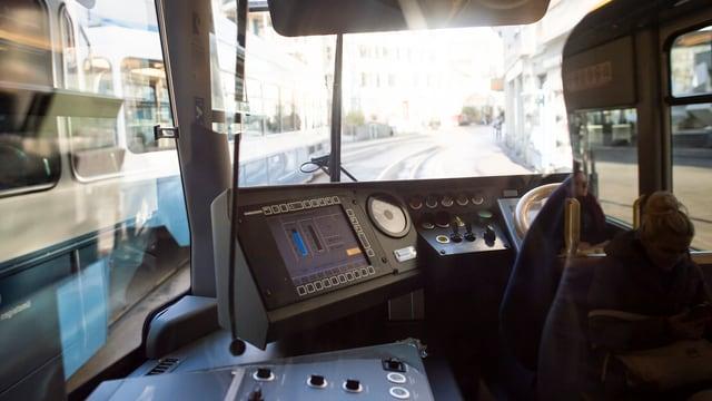 Die Führerkabine eines VBZ-Trams