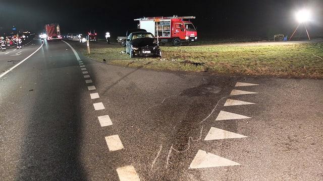 Für die Untersuchung des Unfalls musste die Strasse für mehrere Stunden gesperrt werden.