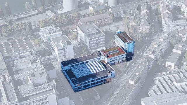Plan der drei Gebäude