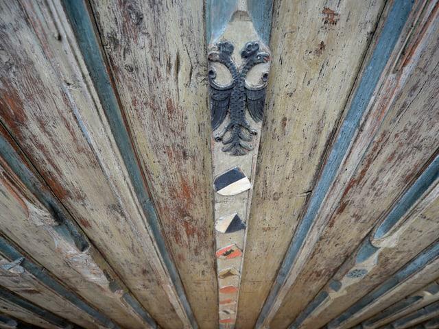 Decke des alten Rathauses in Sursee nach der Renovation (Ausschnitt).