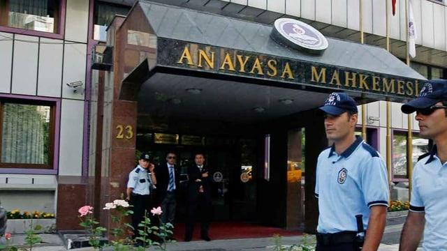 Das Verfassungsgericht in der Türkei.