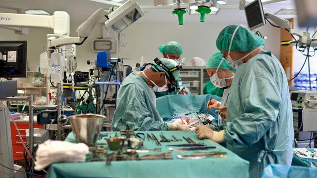 Eine Herztransplantation am Kinderspital Zürich.